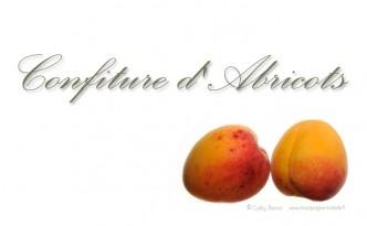 étiquette confiture d'abricot