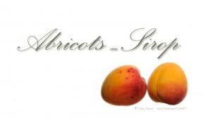 étiquette abricots au sirop (conserve)